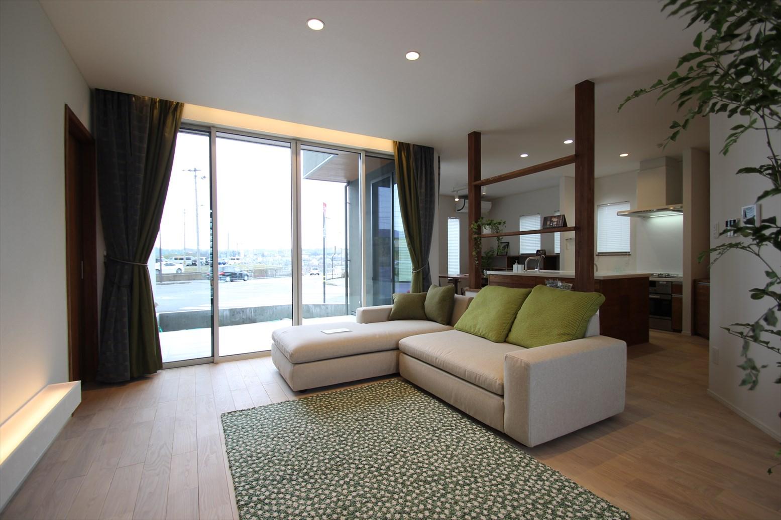 眺望を楽しむリゾートスタイルの家