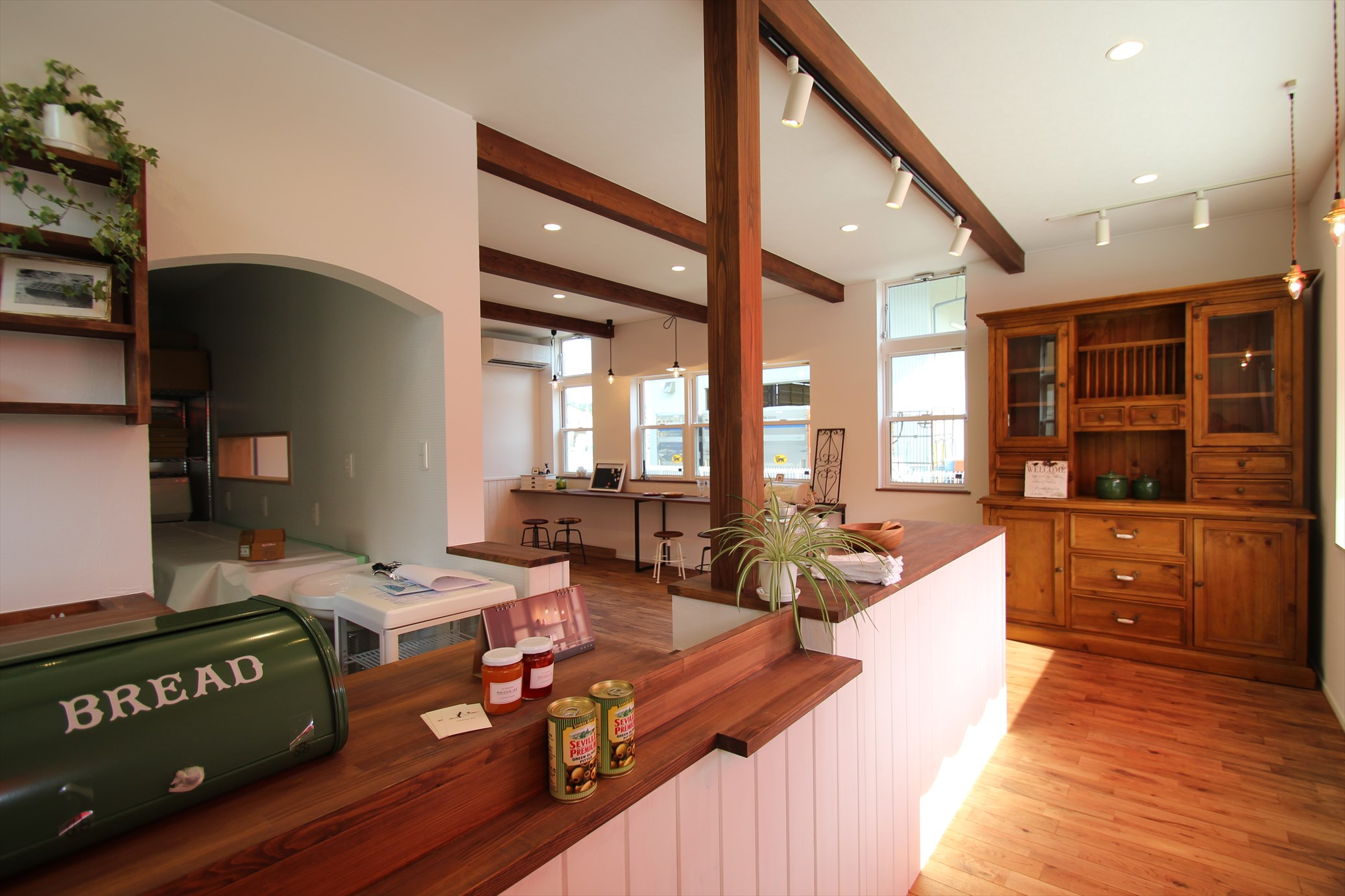 ヨーロピアンなかわいいカフェのある家