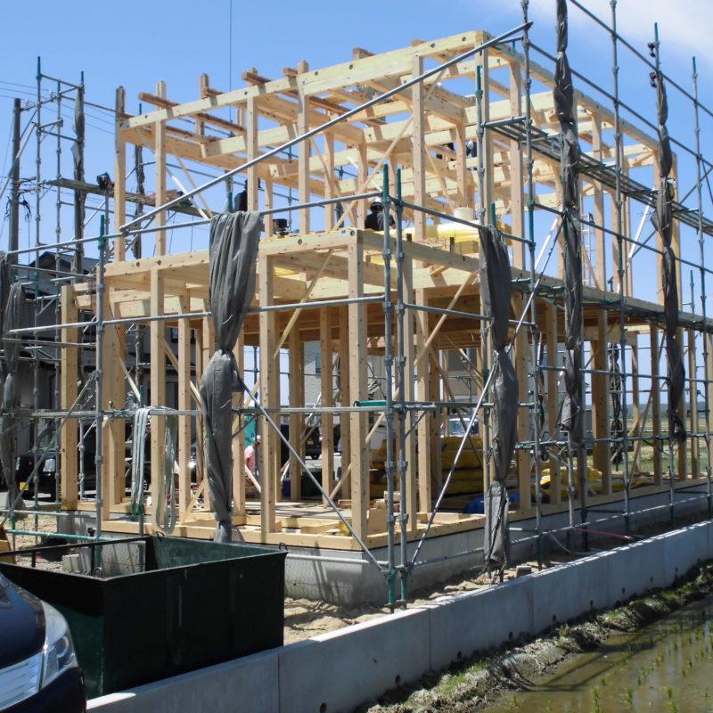 上棟|石川県金沢市の注文住宅・デザイン性・新築の家・戸建て|E-HOUSE